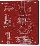 Vintage 1961 Fender Guitar Patent Acrylic Print