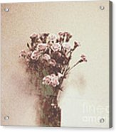 Vintage Abstract Flowers Acrylic Print by Victoria Herrera