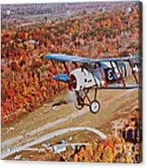 Vintage Airplane Postcard Art Prints Acrylic Print