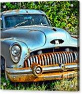 Vintage American Car In Yard Acrylic Print
