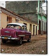 Vintage American Cars In Cuba Acrylic Print