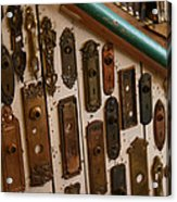 Vintage And Antique Door Knob And Lock Plates Acrylic Print