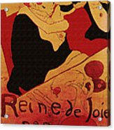 Vintage Art Poster Advertisement Entertainment Toulouse Lautrec 1892 Acrylic Print