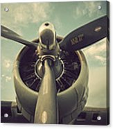 Vintage B-17 Flying Fortress Propeller Acrylic Print