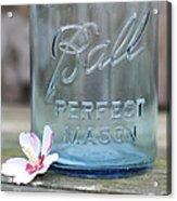 Vintage Ball Perfect Mason Blue Acrylic Print