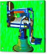 Vintage Barber Chair - 20130119 - V2 Acrylic Print