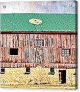 Vintage Barn - Wood And Stone Acrylic Print
