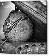 Vintage Baseball And Glove Acrylic Print