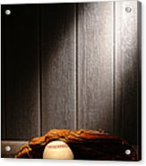 Vintage Baseball Acrylic Print by Olivier Le Queinec