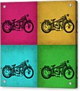 Vintage Bike Pop Art 1 Acrylic Print