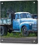 Vintage Blue Chevrolet Pickup Truck Acrylic Print