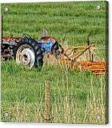 Vintage Blue Tractor Acrylic Print