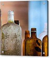 Vintage Bottles Acrylic Print by Adam Romanowicz