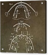 Vintage Braces Patent Acrylic Print