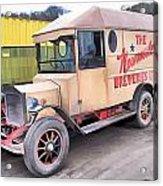 Vintage Brewery Van Acrylic Print