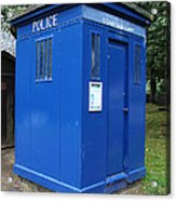 Vintage British Blue Police Phone Box Acrylic Print