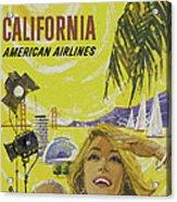 Vintage California Travel Poster Acrylic Print