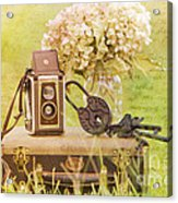 Vintage Camera And Case Acrylic Print