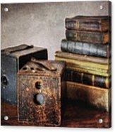 Vintage Cameras And Books Acrylic Print