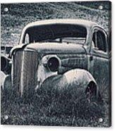 Vintage Car At Bodie Acrylic Print by Kelley King
