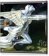 Goddess Of Speed Packard Hood Ornament  Acrylic Print