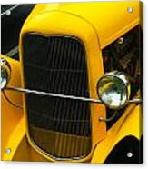 Vintage Car Yellow Detail Acrylic Print