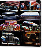 Vintage Cars Collage 2 Acrylic Print