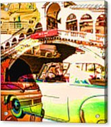 Vintage Cars Collage Acrylic Print
