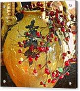 Vintage Ceramic Urn Acrylic Print by Linda Phelps