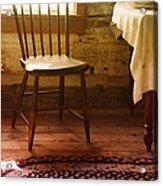 Vintage Chair And Table Acrylic Print