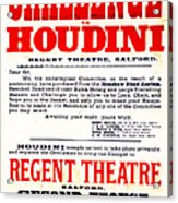 Vintage Challenge Houdini Poster Acrylic Print by Wingsdomain Art and Photography