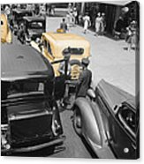 Vintage Checker Cabs Acrylic Print