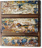 Vintage Chest Of  Drawers Acrylic Print