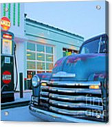 Vintage Chevrolet At The Gas Station Acrylic Print