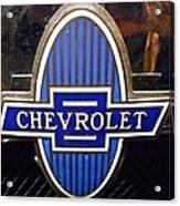 Vintage Chevrolet Logo Acrylic Print