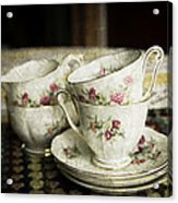 Vintage China Acrylic Print by Lesley Rigg