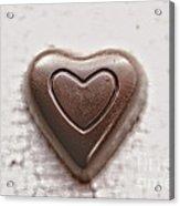 Vintage Chocolate Heart Acrylic Print