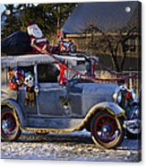 Vintage Christmas Car Acrylic Print