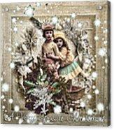 Vintage Christmas Acrylic Print by Mo T