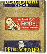 Vintage Cigar And Tobacco Signs Dsc07152 Acrylic Print