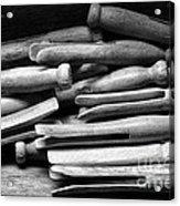 Vintage Clothespins Acrylic Print