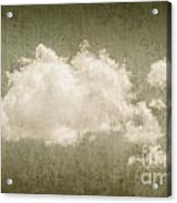 Vintage Clouds Background Acrylic Print