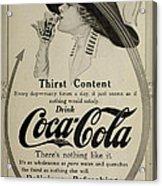 Vintage Coca Cola Ad 1911 Acrylic Print