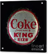 Vintage Coca Cola Bottle Cap Acrylic Print