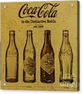 Vintage Coca Cola Bottles Acrylic Print