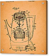 Vintage Coffee Maker Patent 1958 Acrylic Print