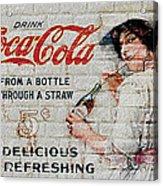 Vintage Coke Sign Acrylic Print