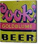 Vintage Cooks Goldblume Beer Sign Acrylic Print
