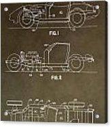 Vintage Corvette Patent Acrylic Print