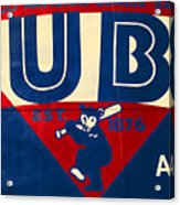 Vintage Cubs Spring Training Sign Acrylic Print